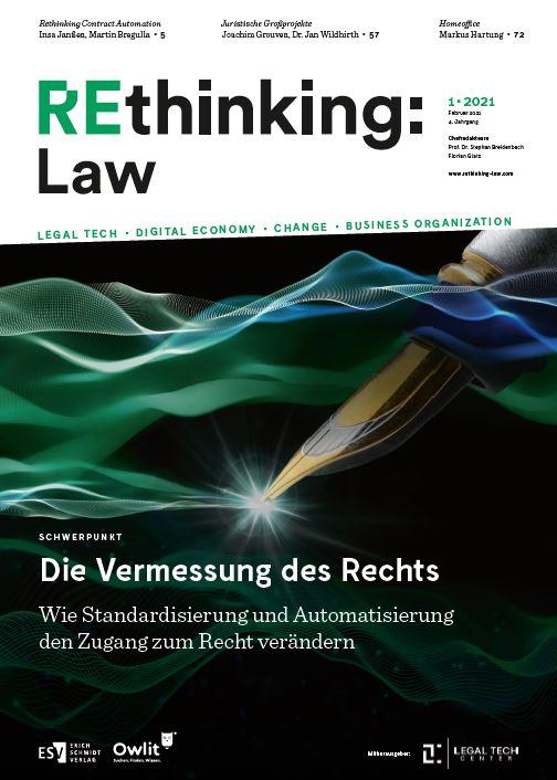 Rethinking Law Ausgabe 01 - Die Vermessung des Rechts
